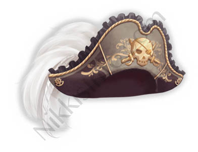 Skeletons Pirate Hat
