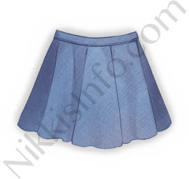 Blue Short Skirt