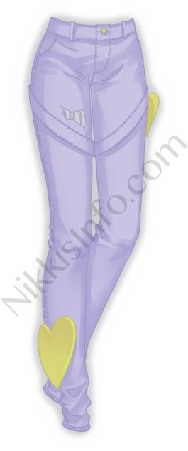 Heart Pants·Purple