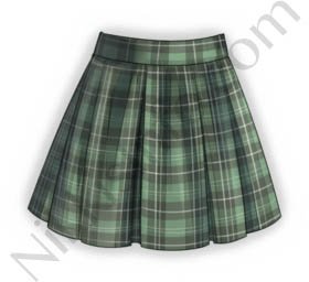 School Skirt·Green
