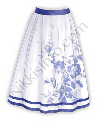 Blue Porcelain·Skirt