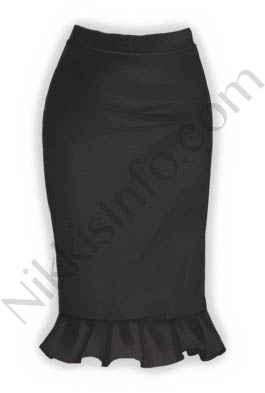 Black Fishtail Skirt