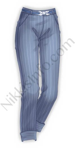 Stripe Blue Pants