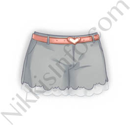 Decorative Shorts·Gray