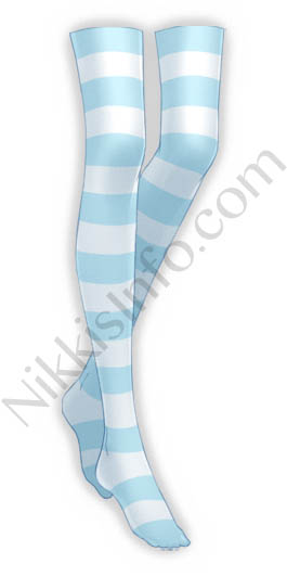 Blue Striped Stockings