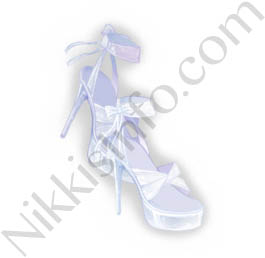 Chiffon Shoes·White