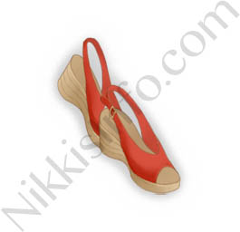 Peep-toe Sandals·Red