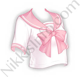 Sailor Suit Top·Pink