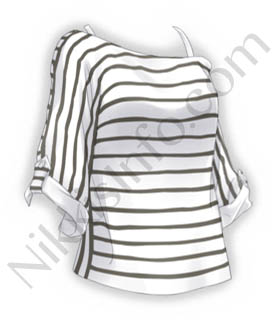 Stripe Sun-top·White