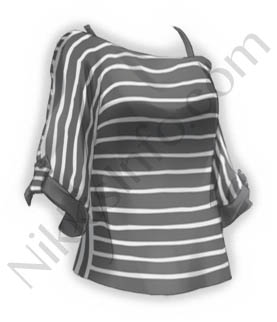 Stripe Sun-top·Black